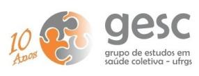 Logo GESC 10 anos - assinatura